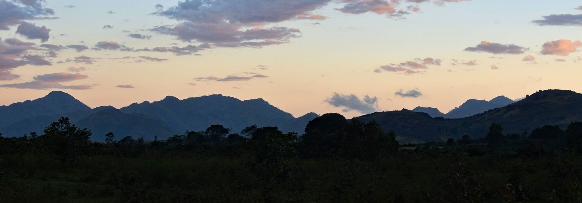 Scenic mountains in Andramanaka, Madagascar