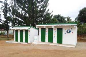 Latrines at Ranomafana High School