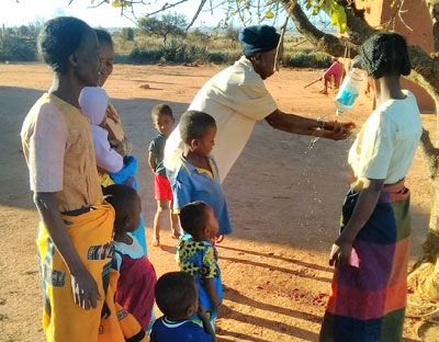 Handwashing demonstration in rural Anosy, Madagascar