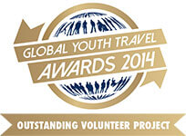 Outstanding Volunteer Project at the Global Youth Travel Awards 2014