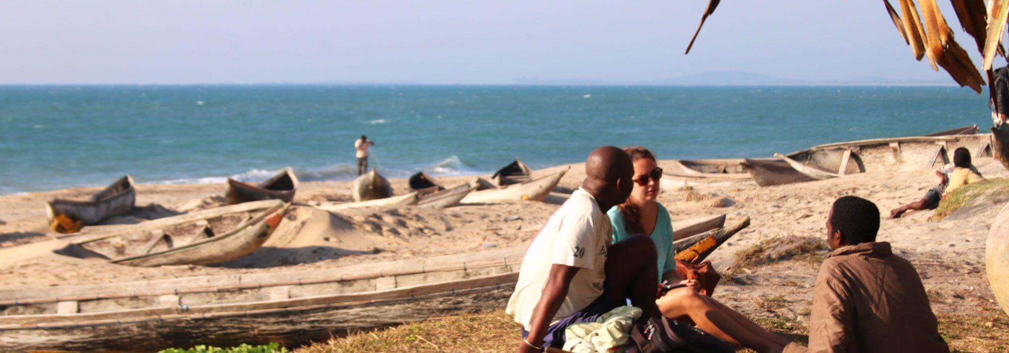 MPAG interview on the beach at Sainte Luce, Madagascar