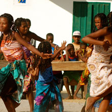 A traditional Malagasy dance